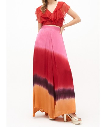 New Meadow Satin Skirt Red Diagonal